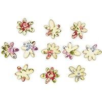 Craft For Occasions-Accessori decorativi in legno, con motivo floreale e C0326