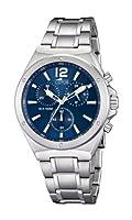Reloj cronógrafo Lotus 10118/3 de cuarzo para hombre con correa de acero inoxidable, color plateado