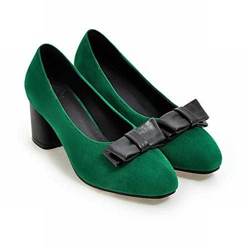 MissSaSa Donna Scarpe col Tacco Speciale Alto Pumps Verde