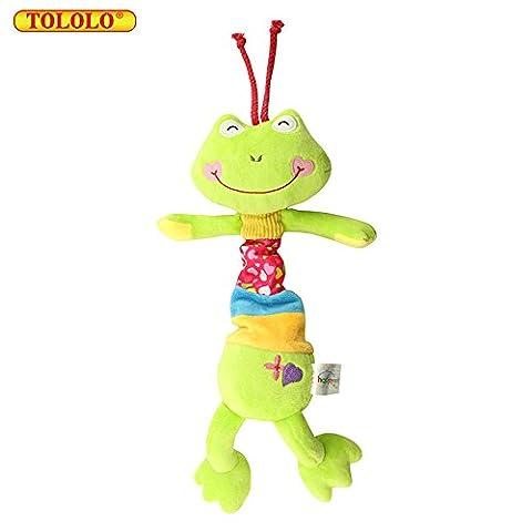 TOLOLO Cute Animal Musical Pendant Frog Doll Plush Newborn Baby Toys