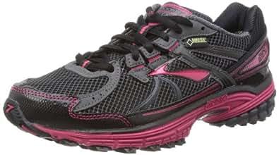 Brooks  Adrenaline ASR 10 GTX W,  Damen Laufschuhe, Schwarz - Anthrazit/Schwarz/Pink - Größe: 39