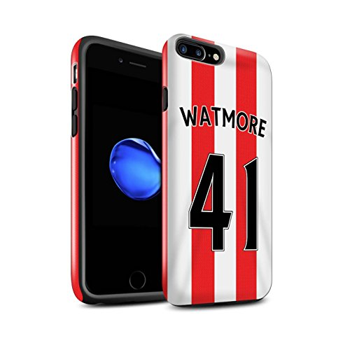 Offiziell Sunderland AFC Hülle / Glanz Harten Stoßfest Case für Apple iPhone 7 Plus / Rodwell Muster / SAFC Trikot Home 15/16 Kollektion Watmore