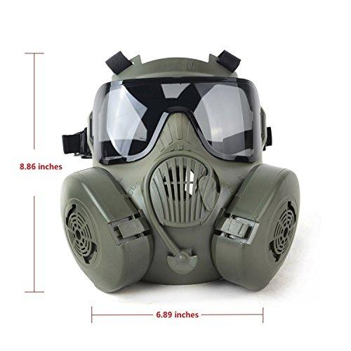Generisches Tactical Wargame Paintball-volles Gesichts-Schädel-Gasmaske M50 Image