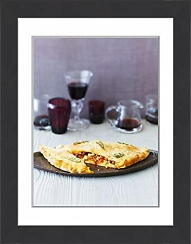 Framed Print of Calzone con la salsiccia (Folded pizza with