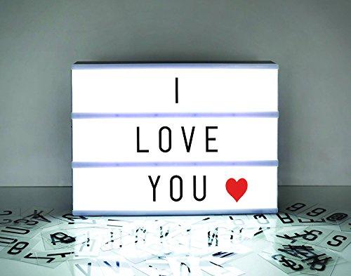 Boîte lumineuse cinématique avec 90 lettres et lumière...