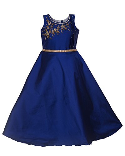 My Lil Princess Baby Girls Birthday Party wear Frock Dress_Twink Blue_Tafetta Fabric_7-8...
