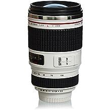 """Taza de café con tapa de lente - Blanco """"Cámara digital"""" Diseño 0.35l - Taza de viaje de gadget - Grinscard"""