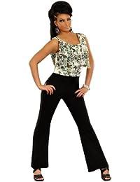 5942 Fashion4Young Damen Overall Hosenanzug Hose Chiffon verfügbar in 2 Farben 2 Größen