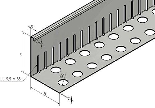 Kiesfangleiste Klein Gelocht Aluminium 80x100x2000mm Mwd