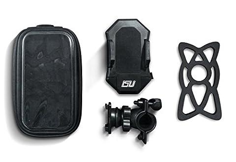 EXCLUSIVE 2 IN 1 Bike Phone Mount, Adjustable, Waterproof, Rotating