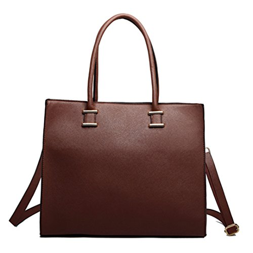 Miss Lulu, Borsa tote donna 1509 Brown