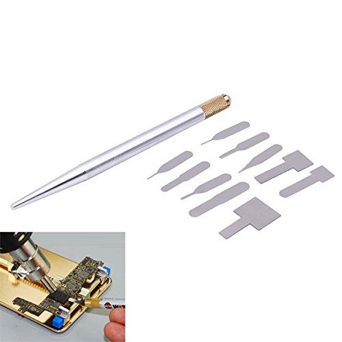 Ic-telefon (ChaRLes 10 In 1 Ic Chip Reparatur Dünne Klinge Werkzeug Zelle Telefon Cpu Remover Burin Pratical Repair Hand Tool Für Iphone)