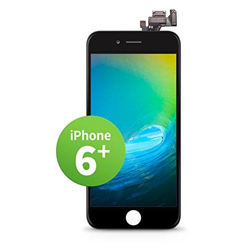 GIGA Fixxoo iPhone 6 Plus LCD Touchscreen Retina Display Ersatz in Schwarz für Einfache Reparatur, FaceTime Kamera, 100% Kompatibel mit Apple (kein Set) - Austausch Iphone 6 Lcd Plus
