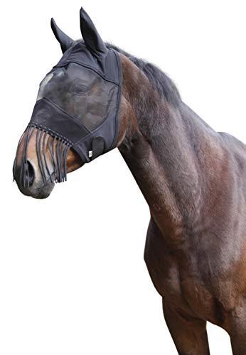 Kerbl 321269 Fliegenschutzmaske WB mit Ohrenschutz und Nüsternkordel
