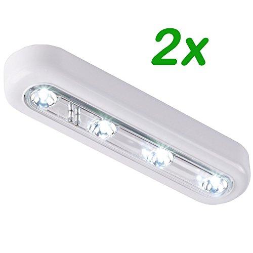 2 x Bestwe 4 LED luce, bianco fredda lampade da parete luce notturna.