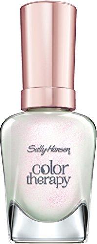 Sally Hansen Color Therapy Nagellack, 491 Opulent Pearl, sofort pflegender Farblack mit glänzendem Finish, weiß-rosa-schimmernd, Enchanting Gems Collection, 14.7 ml