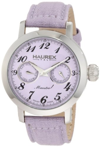 Haurex Italy Ladies Watch 6A343DL1 Maestro Rainbow with Purple Dial and Purple Fabric Strap