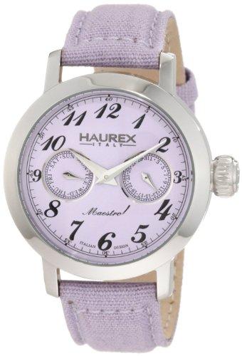 Haurex Italy - 6A343DL1 - Montre Femme - Quartz - Analogique - Bracelet Textile violet