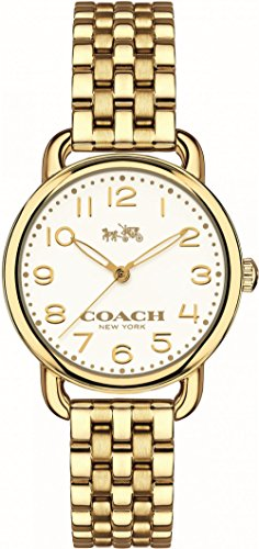 Coach 14502241 Ladies Delancey Gold Plated Steel Bracelet Watch