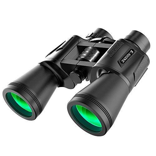 E-SHINE Binocolo per Adulti Bird Watching, 10x50 binoculare ad Alta Potenza di sorveglianza è Meraviglioso per Lunghe distanze in Viaggio, all'aperto, Sport, (10x50)