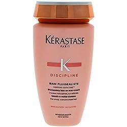 KERASTASE DISCIPLINE BAIN FLUIDALISTE Morpho-Keratine San Sulfate -Shampooing lisse en mouvement - Fluidité Brillance Anti Frizz - 250 ml