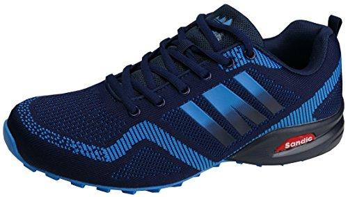 gibra® Herren Sneaker Sportschuhe, leicht und bequem, blau, Art. 7737, Gr. 43