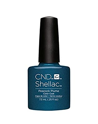 CND Shellac Contradicitons Collection - NEW for Autumn 2015 - UV Soak Off Gel Nail Polish/Varnish (Peacock Plume - 1 bottle)
