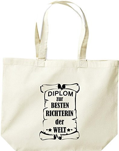 shirtstown grande borsa della spesa, diplom A MIGLIOR Richterin DEL MONDO Naturale