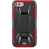 iPhone 6 Plus Hülle,iPhone 6s Plus Case PC Schrubben + TPU Bumper Cover Integrierter Kickstand Case Schutzhülle für iPhone 6 plus(5,5 zoll) Free display Standfunktion