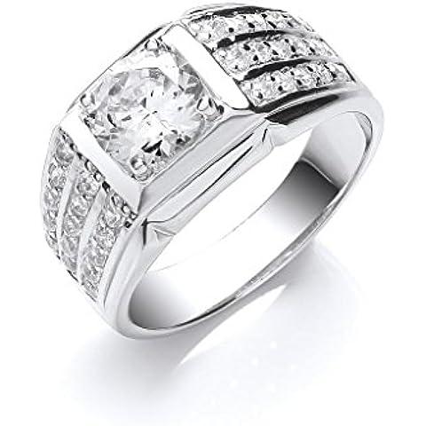 Plata de ley de Zirconia cúbico anillo de caballeros