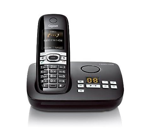Gigaset CX610A ISDN Dect-Schnurlostelefon mit Anrufbeantworter für den ISDN Anschluß, Babyphonefunktion, schwarz
