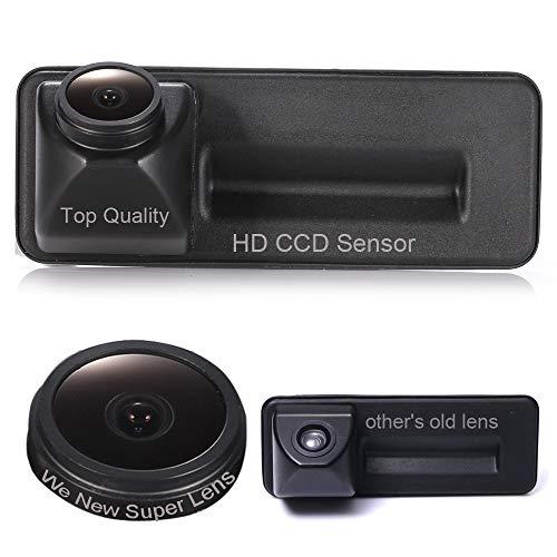 HD CCD Nachtsicht Kofferraum Griff Rückfahrkamera Rückfahrkamera 18mm Objektiv für GPS Autoradio Für Skoda Fabia Y6 Audi A1 VW Golf 5 V Variant Skoda Superb Komb (Ccd Nachtsicht-kamera)
