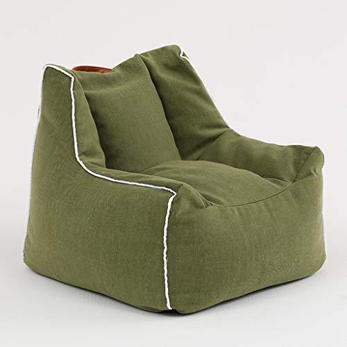 Couch-Bohnensackjungenmädchenprinzessin-Art Und Weise des Sofababys Fauler Kleiner Sofastuhl des Gewebes Der Kinder (Color : Green)