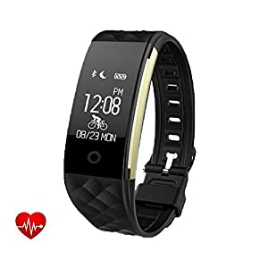 Smart Bracelet Sports Fitness Tracker, Activity Tracker with Heart Rate Sleep Monitor Pedometer Calorie Counter,