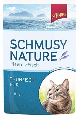 Schmusy Katzenfutter Thunfisch Pur 100 g, 24er Pack (24 x 100 g)