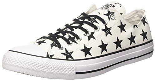 Converse Ctas Ox, Sneaker a Collo Basso Donna Bianco (White/Black/Red)