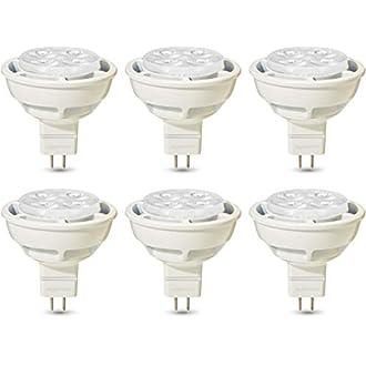 AmazonBasics Professional LED GU5.3 MR16 Spotlight Bulb, 35W equivalent, Warm White, Dimmable - Pack of 6