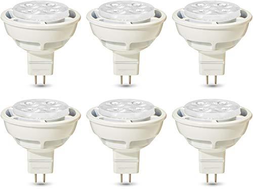 AmazonBasics Professional - LED-Leuchtmittel, GU5.3-Spot, MR16, entspricht 35-Watt-Birne, Warmweiß, dimmbar, 6 Stück