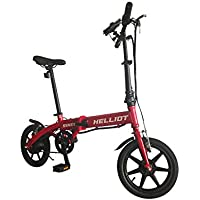 Helliot Bikes Siam Plegable Bicicleta Eléctrica, Adultos Unisex, Rojo, ...