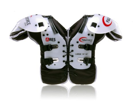 Full Force Ares Youth Multi Position American Football Shoulder Pad LB/RB/OL/DL, Schwarz, XL, FF0202033113