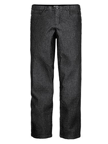 Herren 5-Pocket Jeans Denim in Fischgrat-Optik Elastisch/Stretchanteil by Roger Kent Black Stone