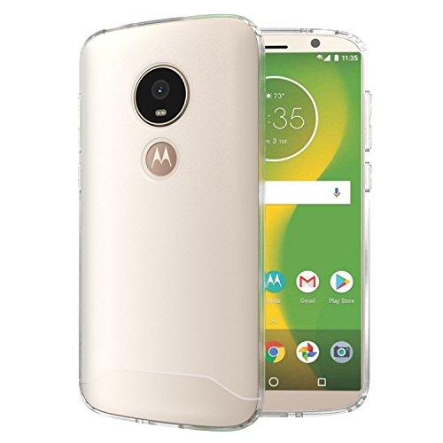 TUDIA ARCH S TPU Schutzhülle Motorola Moto E5 Play Ultra Slim Hülle (Frosted Klar)