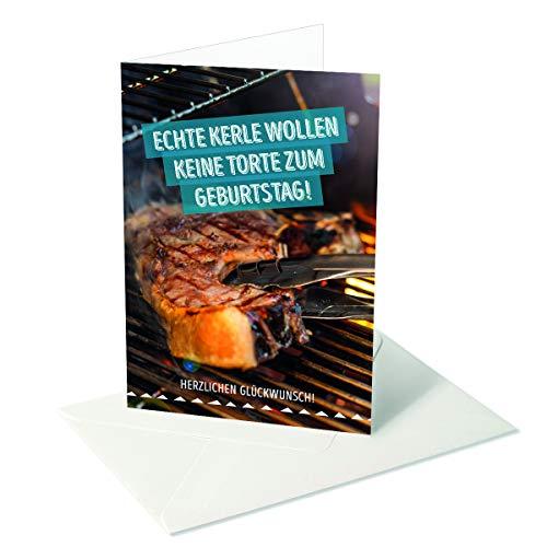 Ich wünsch dir was/Geburtstag Herren/Echte Kerle/Steak - - Grill Karte