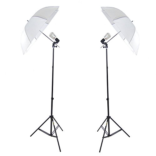 DYNASUN Studioblitz Studioset Profi 2X FLS60 Studioleuchte Synchroblitz Synchronblitzlampe + Blitzbirne