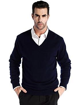 CHAUDER Kaschmir Herren V-Ausschnitt Pullover
