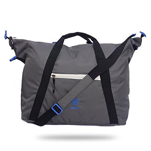 Zwart TOUREZ Grey and Blue 30 L Duffel/Gym Bag