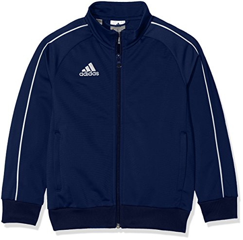 adidas Kinder Core 18 Jacke, Blau (Dark Blue/White), 140