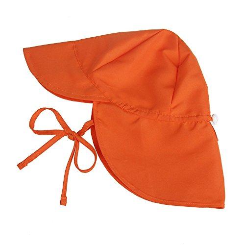 STARKWALL New Kid Es UPF 50 + Uv Sun Hat Neck Ear Cover Flap Cap for Girls/Boys Summer Breathable Beach Hat Adjustable Swimming Cap 6 Monate bis 18 Monate orange