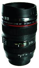 Idea Regalo - OOTB Mug Camera Zoom Lens Tazza in Acciaio Forma Obiettivo 350 ml teleobiettivo Colore Nero