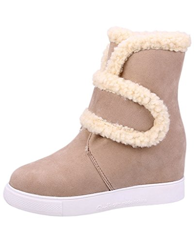 Minetom Donna Inverno Velcro Pelliccia Neve Stivali